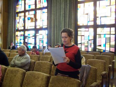 Lectura del Manifiesto en el Pleno del Ayuntamiento de Zaragoza